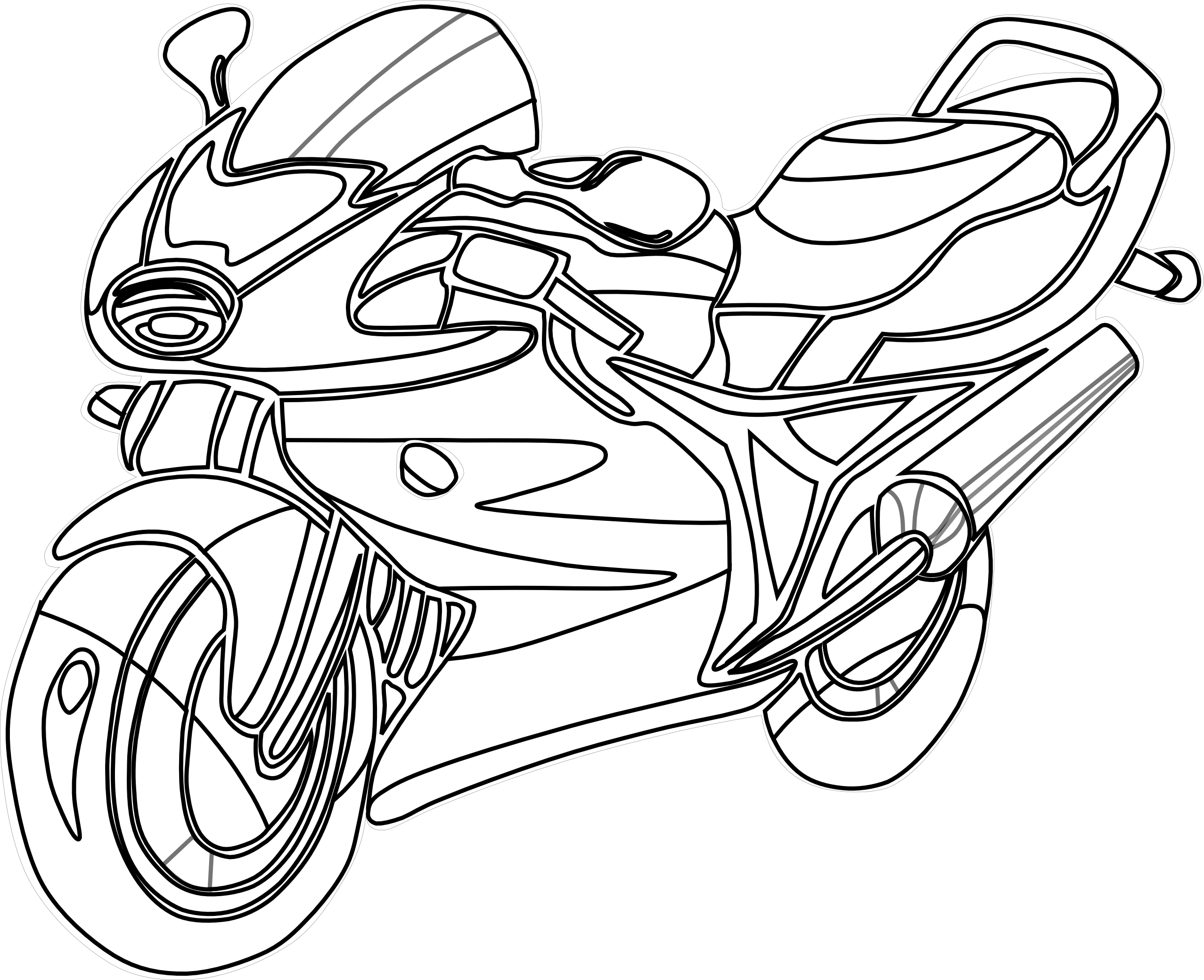 Motorcycle Clipart Black And White Clipart Panda Free.