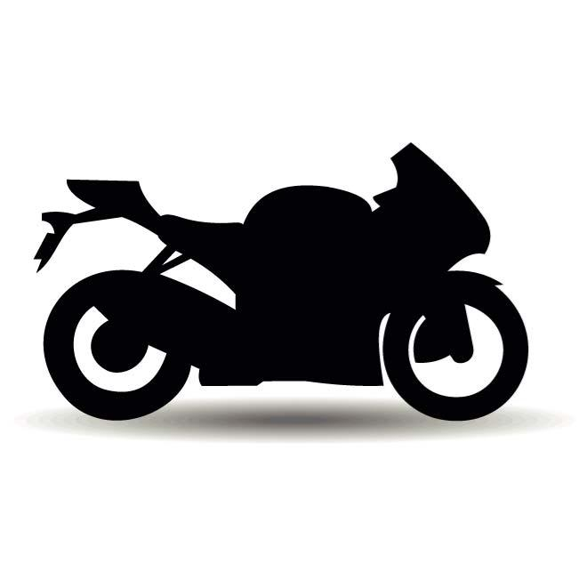 MOTORCYCLE SILHOUETTE VECTOR.