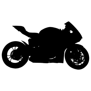 Red Motorcycle Silhouette clipart, cliparts of Red.