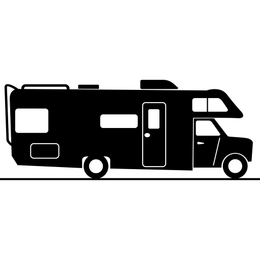 Motorhome Silhouette Clipart transparent PNG.