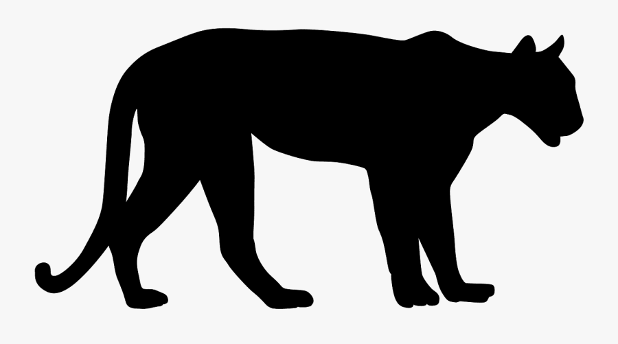 Mountain Lion Silhouette Vector , Free Transparent Clipart.