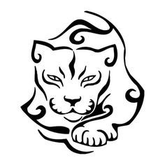 Mountain lion clipart tribal #2675833.