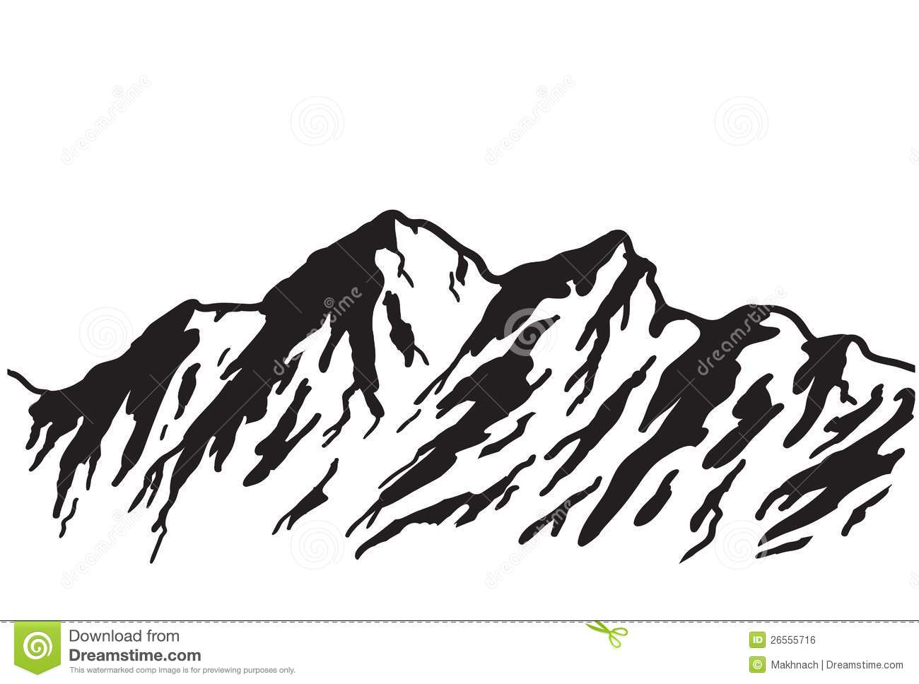 Mountain Top Silhouette Clipart.