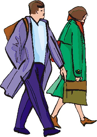 Person Walking Clipart.