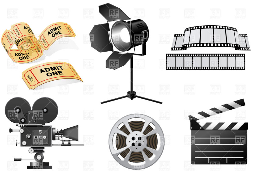 Movie Camera Clip Art.