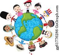 Multicultural Clip Art.