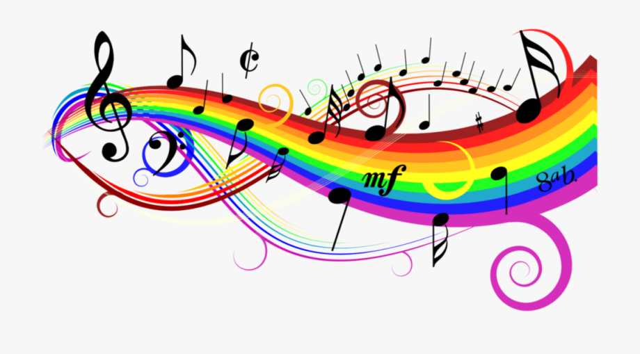 freetoedit #rainbow #colorful #music #notes #background.