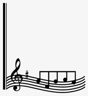 Free Music Border Clip Art with No Background.