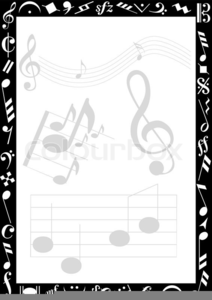 Free Clipart Music Notes Border.