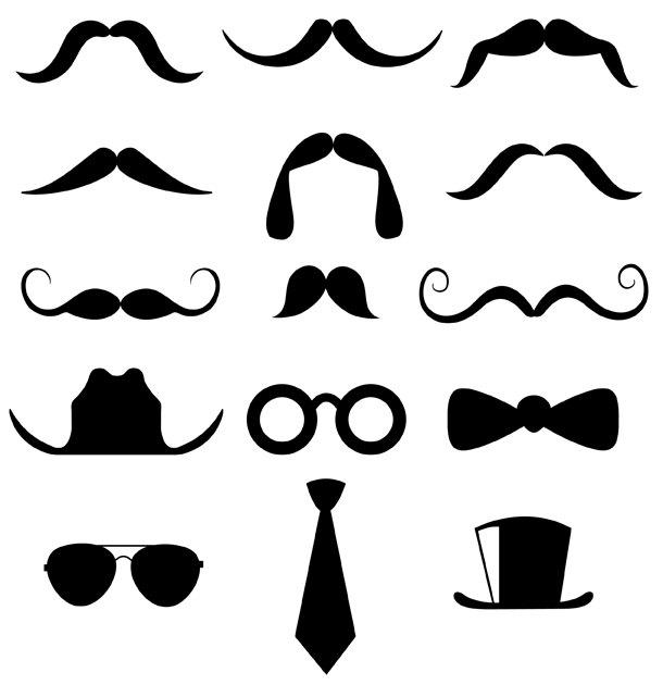 48 Free Mustache Clip Art.