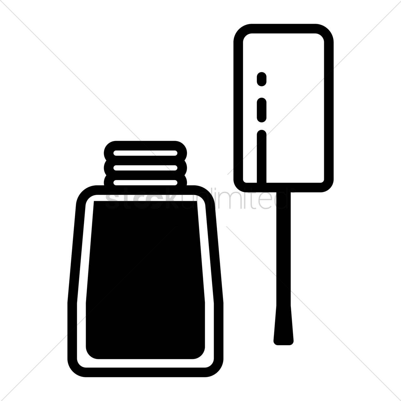Free Nail polish bottle Vector Image.