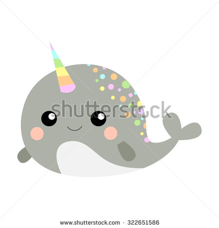 Cute Narwhal Stock Images, Royalty.