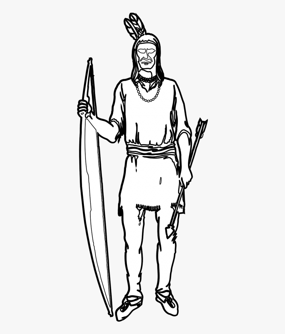 Indian,bow,arrow,native American,tribe,free Vector.