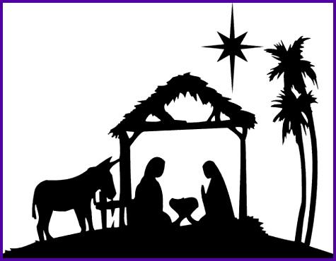 Nativity scene silhouette pattern free Free Nativity Clipart.