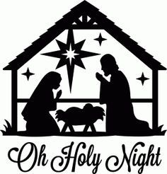 nativity silhouette clip art.