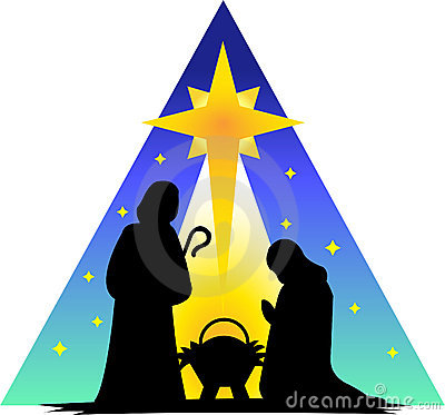 Nativity Silhouette Clip Art.