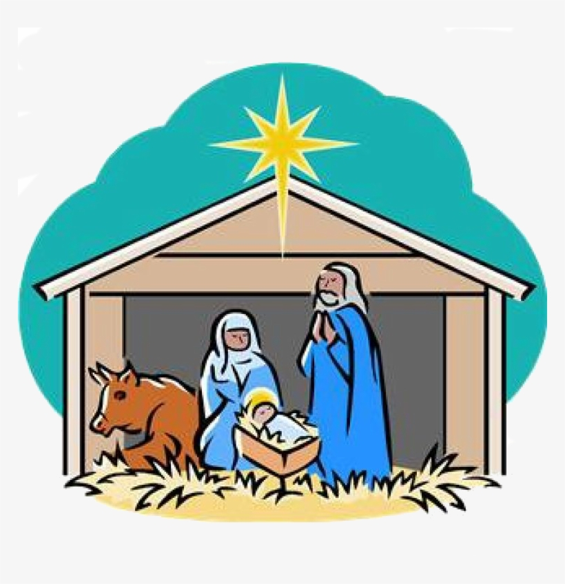 Nativity Scene Clipart PNG Image.