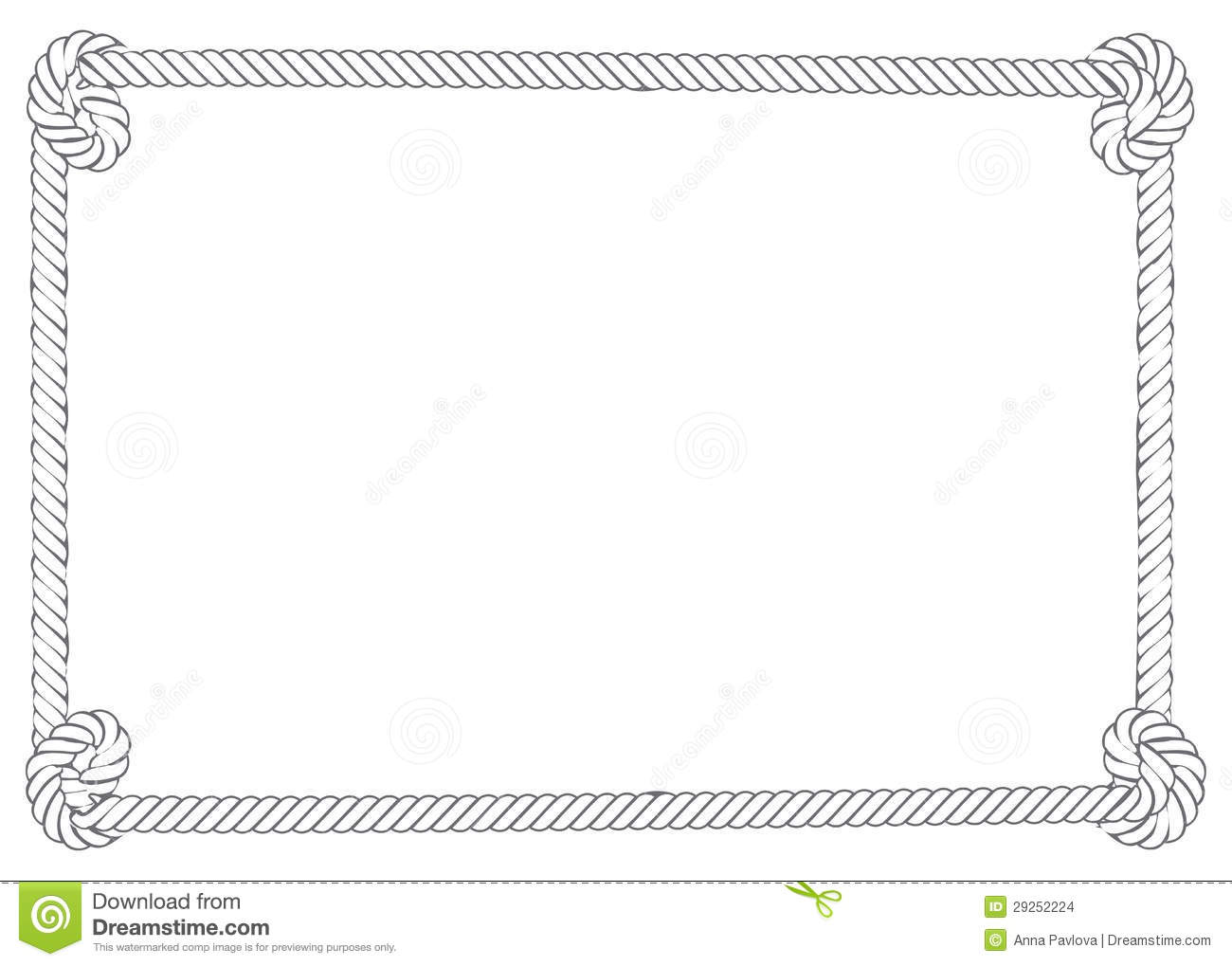 Nautical Rope Border Clip Art.