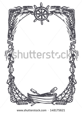 Nautical Border Stock Images, Royalty.