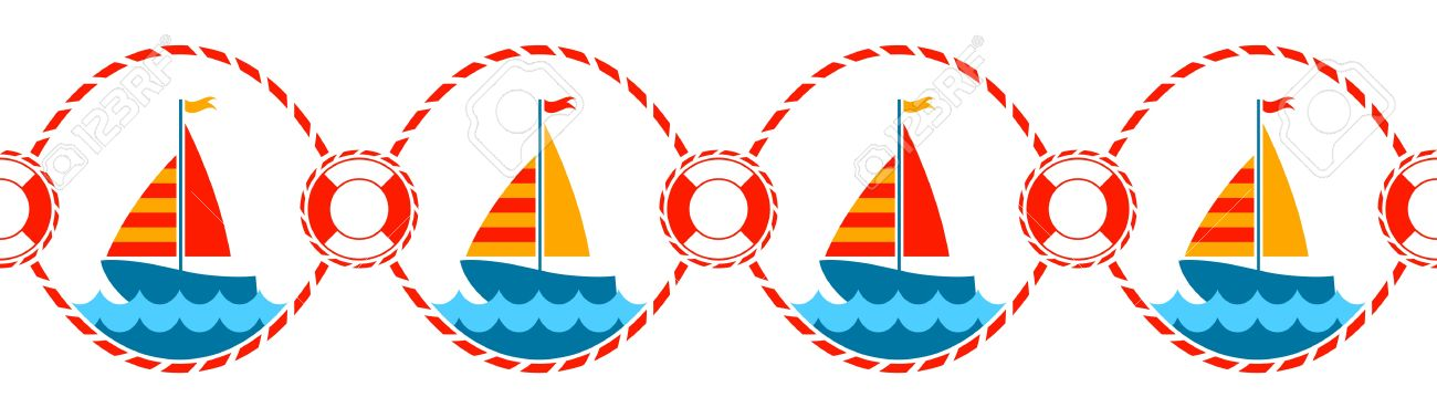 Free Nautical Border Clip Art.