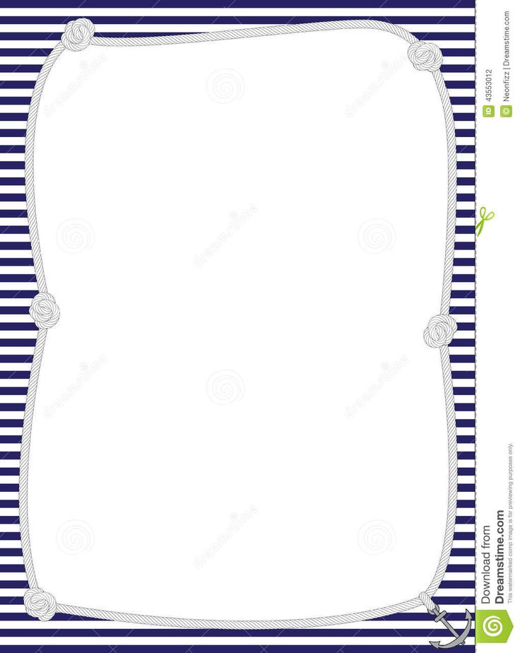 21 Images of Free Nautical Border Template Word.