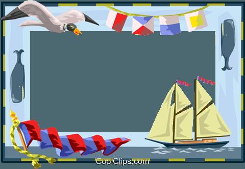 nautical border Royalty Free Vector Clip Art illustration.