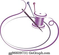 Needle And Thread Clip Art.