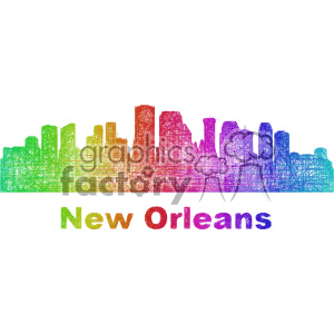 city skyline vector clipart USA New Orleans . Royalty.