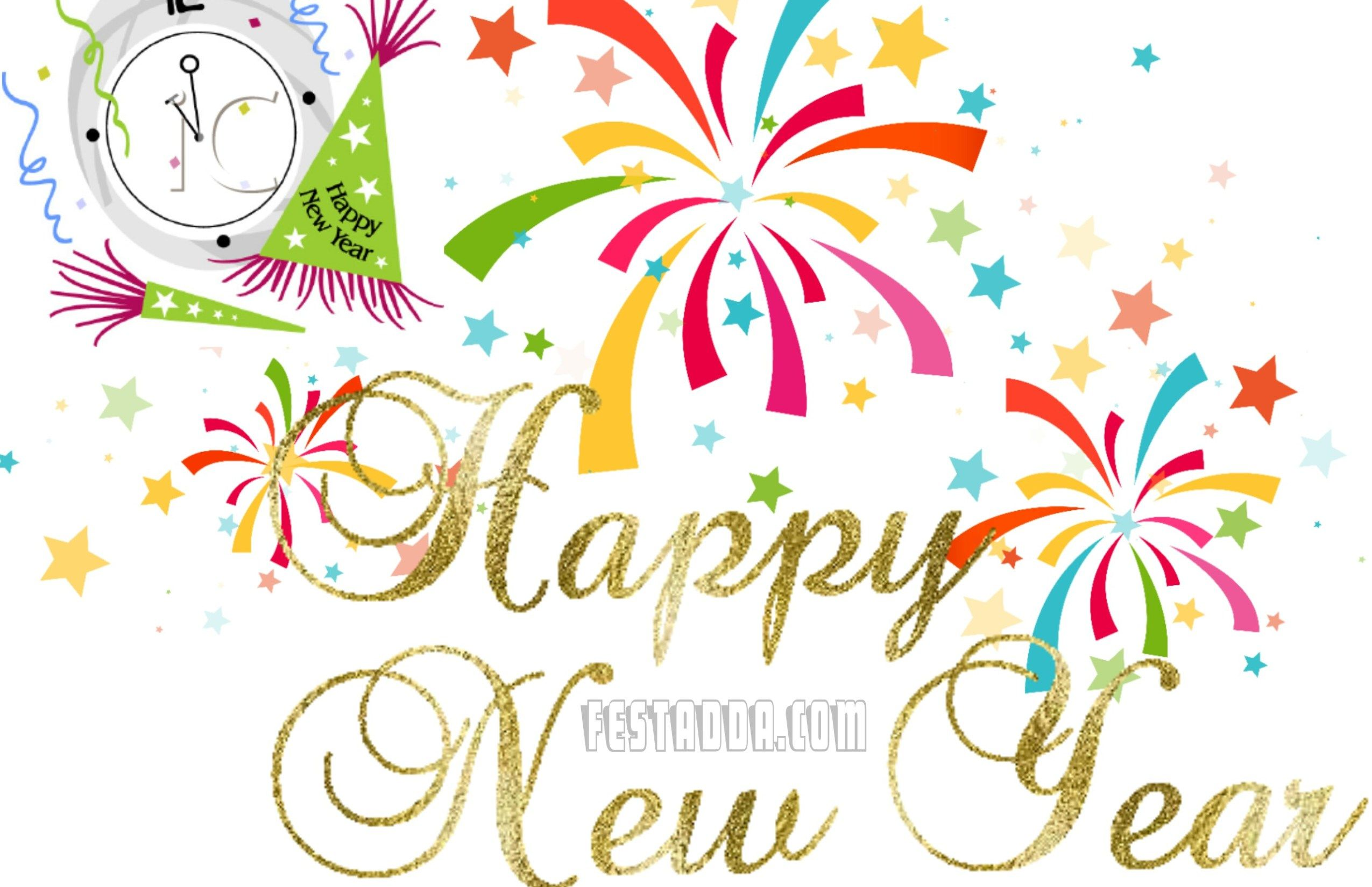 Free Happy New Year Clipart 2019 Images Pics Photos Wallpapers Full.