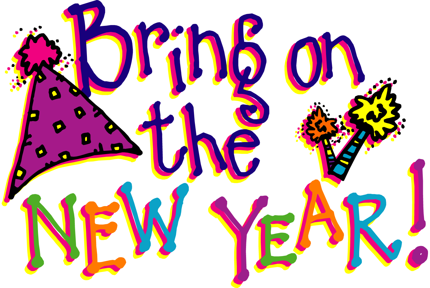 Free New Years Clipart & New Years Clip Art Images.