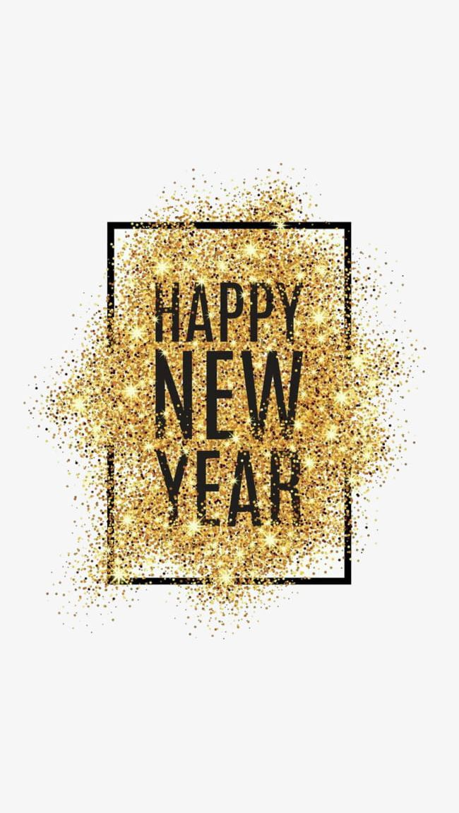 Happy New Year Powder PNG, Clipart, Creative, Creative.