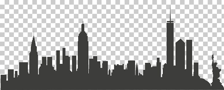 New York City Skyline , New York City, silhouette of City.