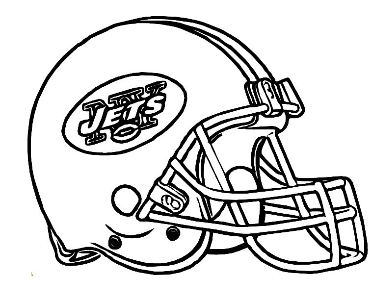Football Helmet New York Jets Coloring Pages.