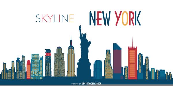 New York Skyline Clipart Free Download Clip Art.