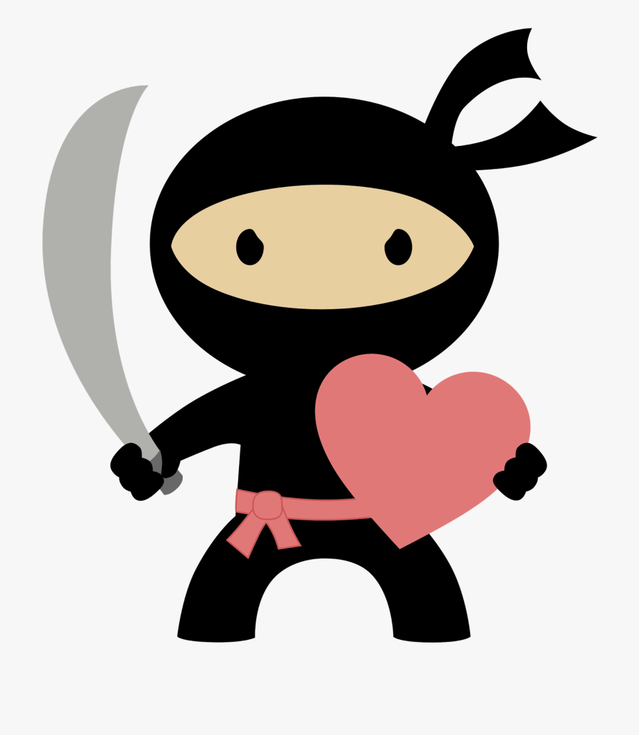 Ninja In Love Clipart.