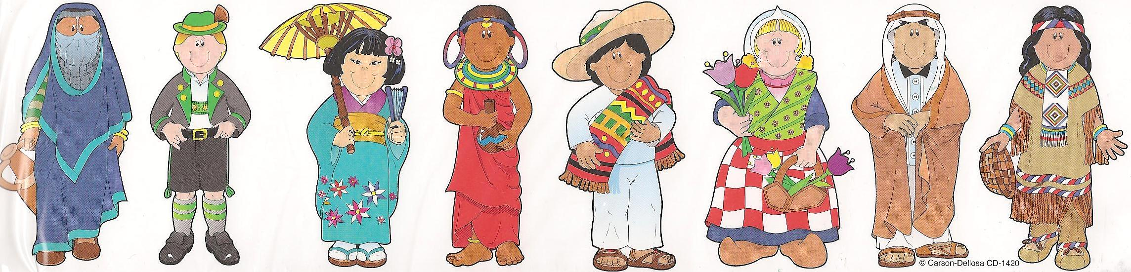 Multicultural Clipart Free No Charge.