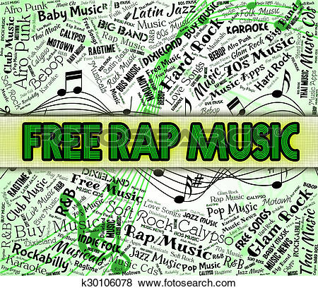 Stock Illustration of Free Rap Music Indicates No Charge And.