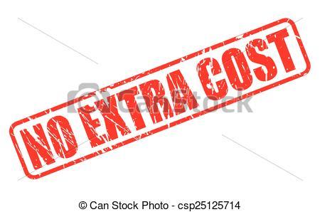 No Extra Cost Clipart.