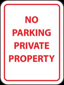 No Parking Private Property Clip Art at Clker.com.