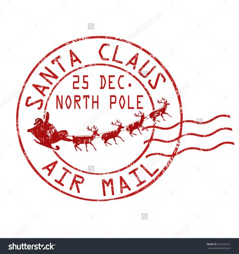 North Pole Stamp Clip Art <b>postmark</b> stock vectors.