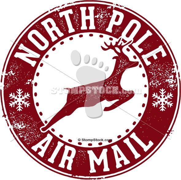 north pole stamped postmark.