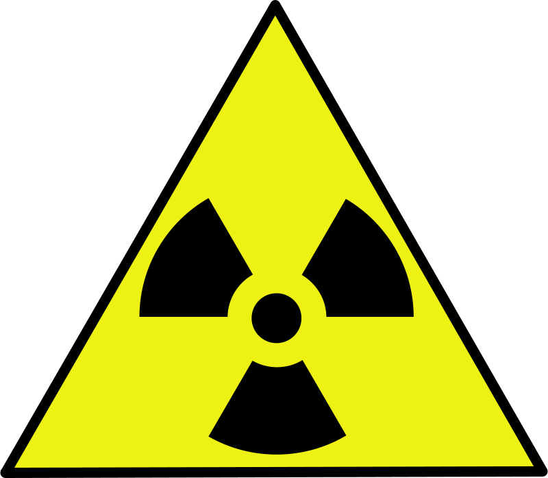 Free Clipart: Nuclear warning sign.