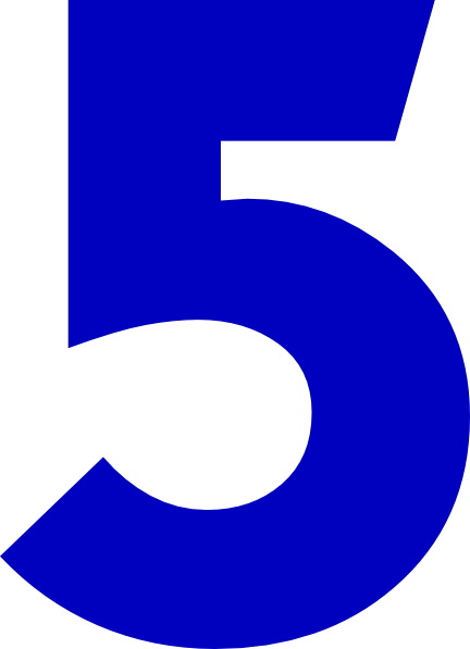 Number 5 Clipart Free.