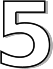 Number 5 Outline Clipart Free.