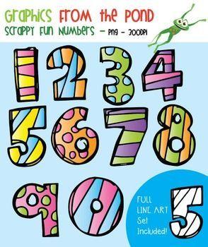 Scrappy Fun Numbers.
