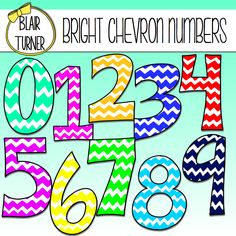 Numbers Clip Art For Teachers.
