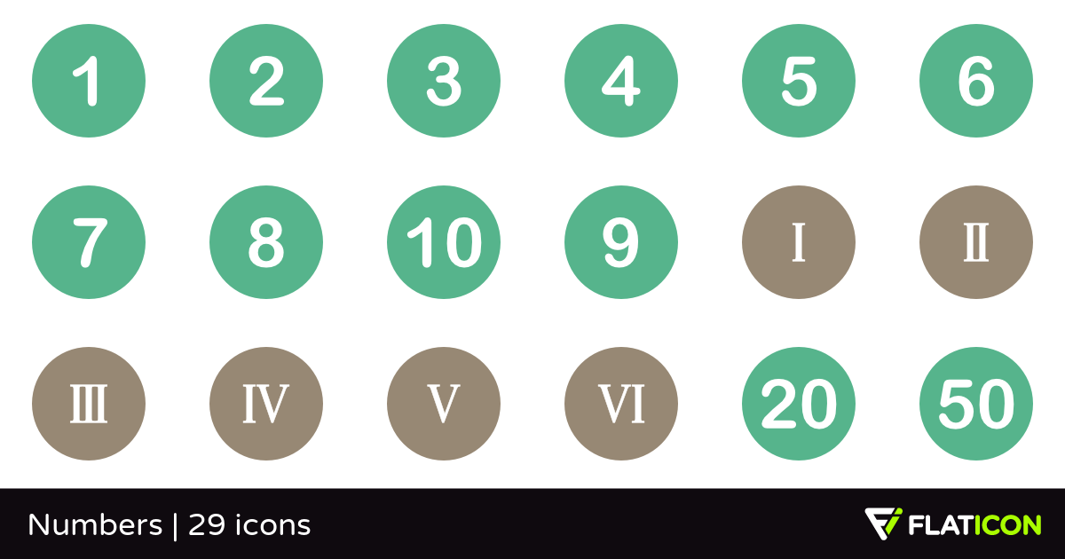 Numbers 29 free icons (SVG, EPS, PSD, PNG files).