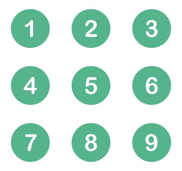 Numbers Icon Png #6748.