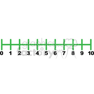 number line clipart.