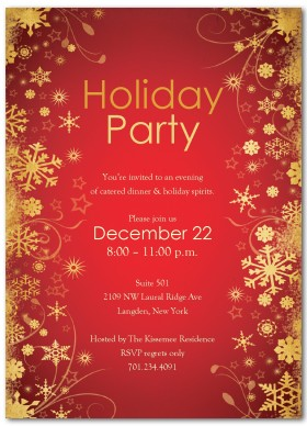 Free Holiday Party Invite Clipart.